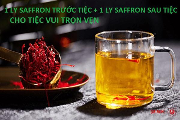 tashrifat saffron có tác dụng giải rượu